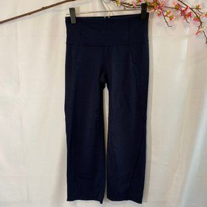 Athleta Navy Blue Workout Cropped Pants SZ S